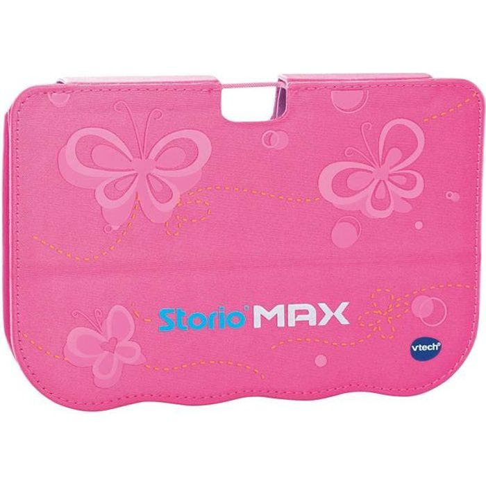 Vtech storio max 5 39 39 etui support rose achat vente for Housse storio max 5