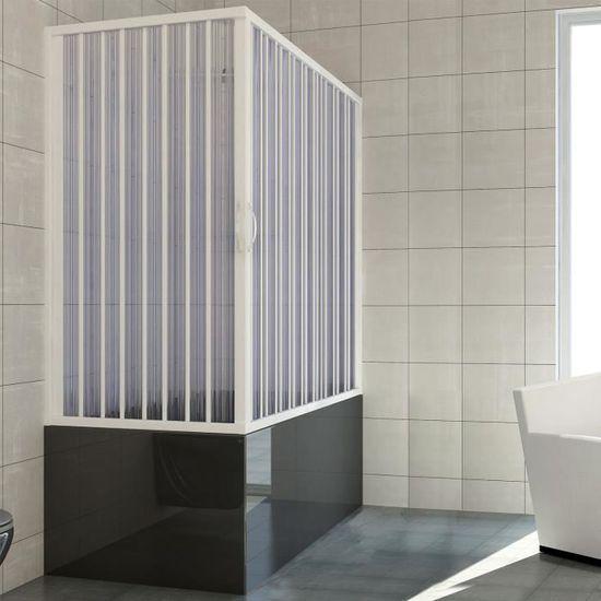Nina 160cm avec ouverture lat/érale Pare baignoire douche en Plastique PVC mod