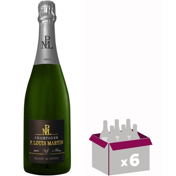 GH MARTEL Paul Louis Martin Champagne - Blanc de Noirs - 75 cl x 6