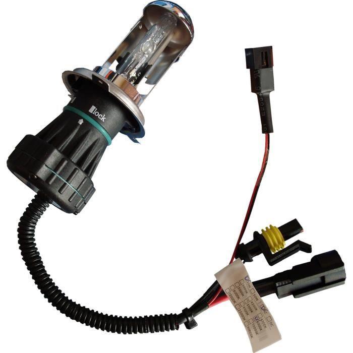 XENON Lampe H4 Bi-Xenon 6000k - Sans système CANBUS - 35W - 12V - 3200 lumens