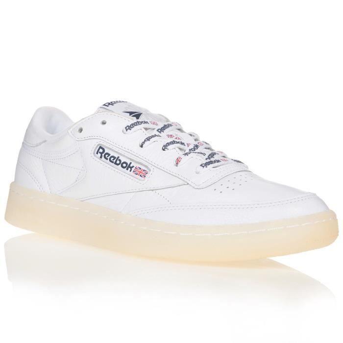 Reebok taille 12 Baskets Homme Club C 85 AR0457 Chaussures en cuir Intense Blanc//Bleu Marine