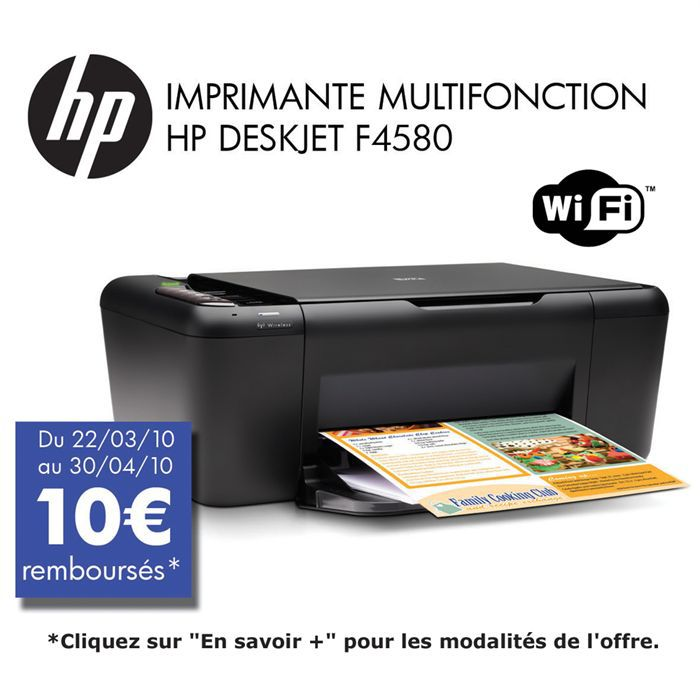 hp deskjet f4580 prix pas cher cdiscount. Black Bedroom Furniture Sets. Home Design Ideas