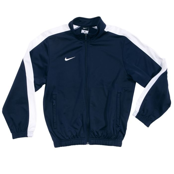 nike veste zipp gar on bleu marine et blanc achat vente veste cdiscount. Black Bedroom Furniture Sets. Home Design Ideas