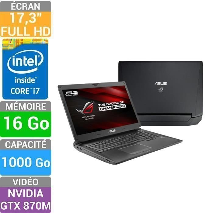 asus pc portable gamer noir cran 17 3 reconditio prix pas cher cdiscount. Black Bedroom Furniture Sets. Home Design Ideas