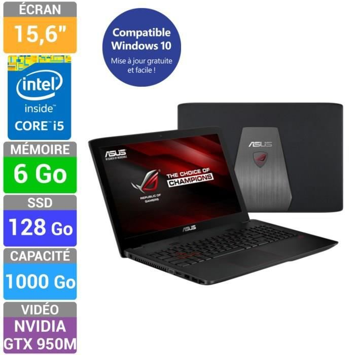 asus rog pc portable gamer gl552jx xo255h prix pas cher. Black Bedroom Furniture Sets. Home Design Ideas