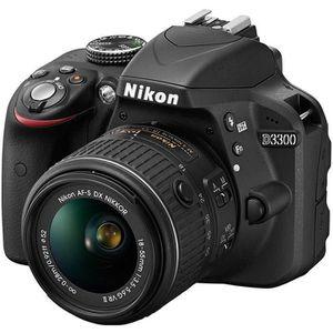 APPAREIL PHOTO RÉFLEX NIKON D3300 KIT + 18-55VRII Noir - Appareil photo