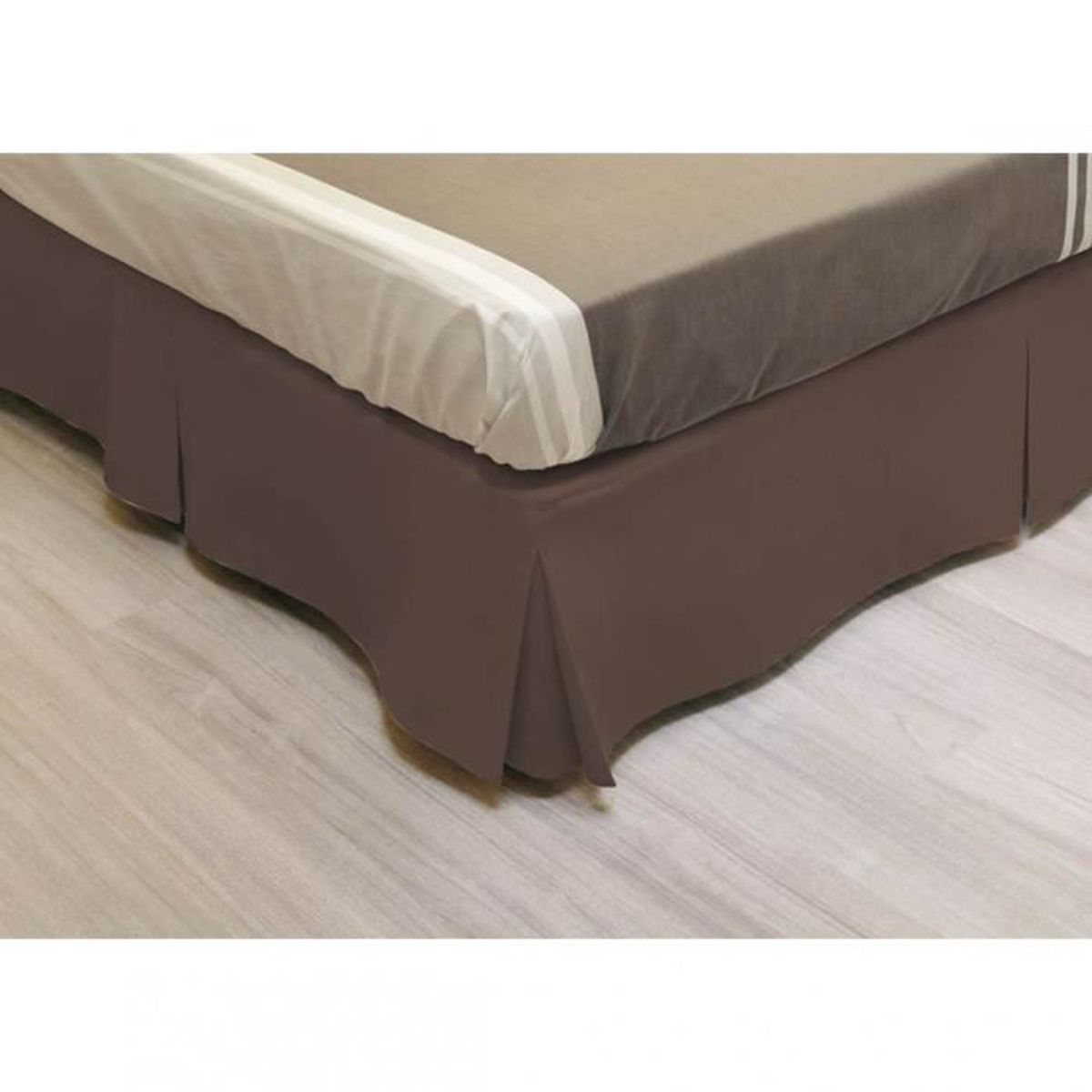 cache sommier int gral microfibre chocolat 160x200 achat. Black Bedroom Furniture Sets. Home Design Ideas