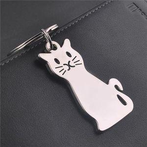 PORTE-CLÉS Porte-clés en métal Chat animaux Porte-clés Porte-