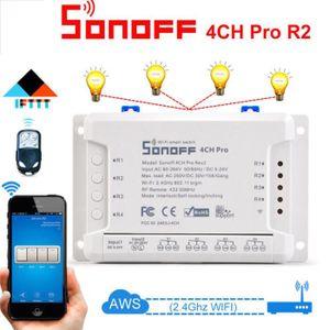 PLAQUE DE FINITION Sonoff 4CH Pro R2 433MHz WiFI Smart Switch 3 modes