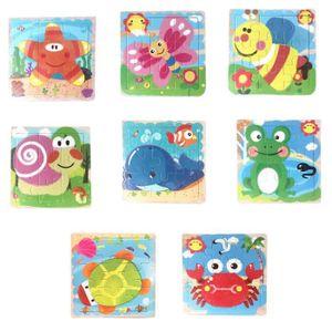 PUZZLE 8 pièces - set Animal Puzzle en bois éducatif déve
