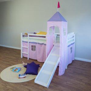 LIT MEZZANINE Lit mezzanine enfant  90 x 200 cm rose
