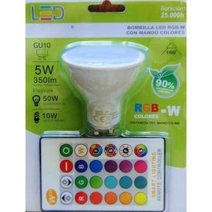 AMPOULE - LED Spot LED GU10 RGBW encastrable 5W MULTICOLORE Télé