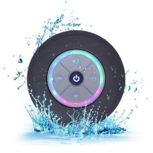 ENCEINTE NOMADE Ventouse Enceinte bluetooth waterproof - Lumières