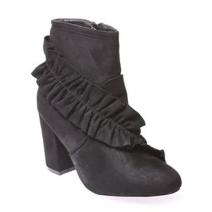 BOTTINE LA MODEUSE - BOTTINES FEMME EN SIMILI DAIM