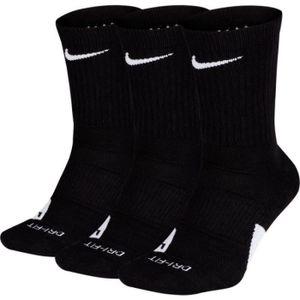 CHAUSSETTES MULTISPORT Chaussettes Nike Elite Crew Noir 3 paires