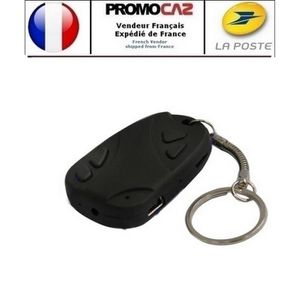 CAMÉRA MINIATURE Porte-clé avec Caméra espion (audio-vidéo) à carte