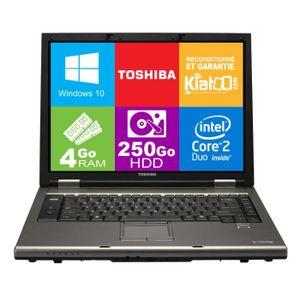PC Portable ordinateur portable 15 pouces TOSHIBA TECRA A9 core 2 duo,4 go ram 250 go disque dur,windows 10 pas cher