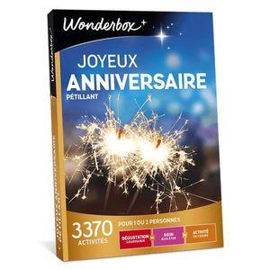 COFFRET THÉMATIQUE Box cadeau anniversaire - Wonderbox - Joyeux anniv