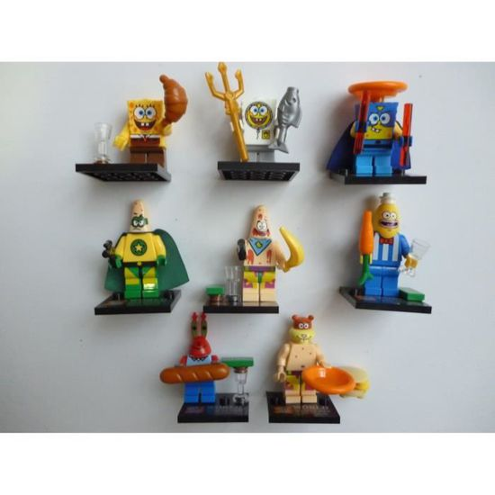 BOB L/'EPONGE Pack de 6 mini Figurines Serie 2