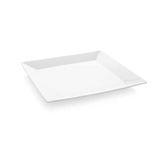 Assiette Carrée Bianco 240 ou 260 mm - Lot de 6 - Fine Dine - 260x260 mm - 770078