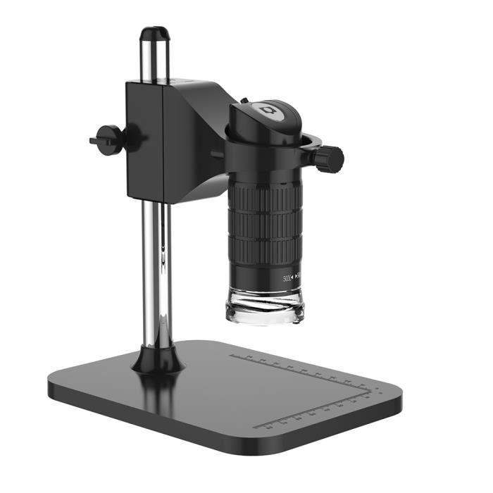 Microscope de poche USB Digital Microscope 500X 2MP électronique réglable 8 LED loupe avec support