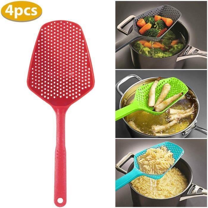 4PC cuisine grande cuillère passoire pâtes passoire résistant à la chaleur cuillère à glace en plastique @moponom 312