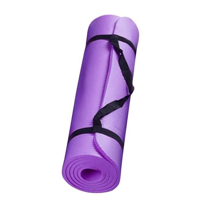 Petit tapis de yoga épais et durable de 15 mm d'épaisseur et tapis de sport antidérapant pour perdre du poids Violet _sco181