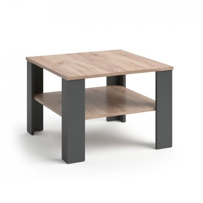 Table basse anthracite sable 60x60 cm