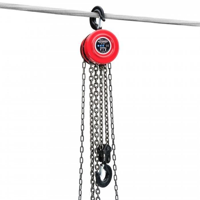 Palan a chaine 2T.Palan simple a chaine de longueur de 3m.