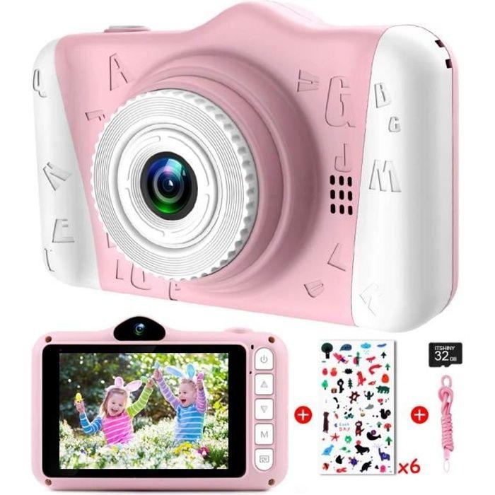 Appareil Photo Enfants - Appareil Photo Numérique pour Enfants avec 3,5 Pouces Grand écran 1080P HD 12MP Carte SD 32 Go Intégré