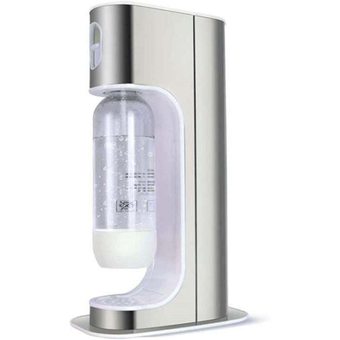 VVA Machine à Gazéifier Conception Simple Bouteille Deau 1L*2 Sodastream One Touch Machine Electrique à Eau Pétillante Accueil A184