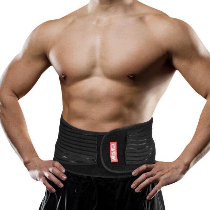 Sécurité sport taille réglable Soutien lombaire Brace Fitness Retour Ceinture Protection_alik2594 E 68184