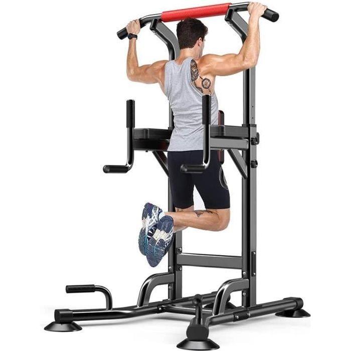 Chaise Romaine Barre de Traction Musculation Station Traction Dips pour l'entraînement à la Maison