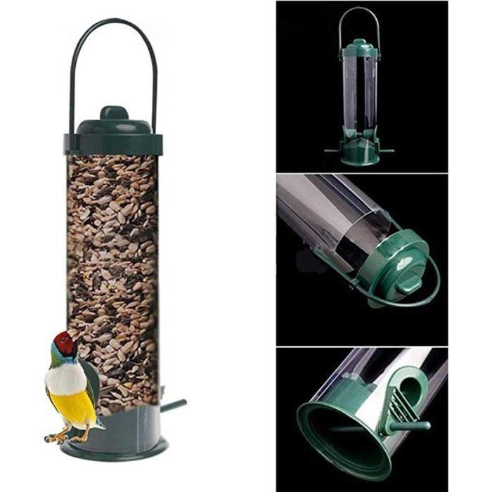 Bol,Mangeoire pour oiseaux sauvages s suspendus Type extérieur animal de compagnie oiseau graines distributeur de nourriture arbre