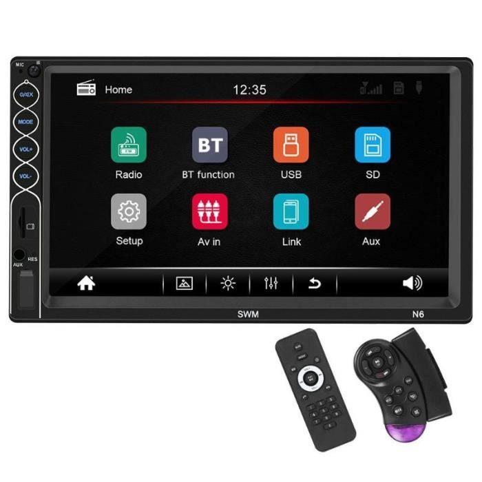 SWM N6 2 DIN voiture stéréo vidéo MP5 lecteur 2din 7 pouces écran tactile Bluetooth USB AUX FM autoradio - Type With 2 Control