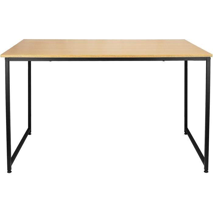 Une table rectangulaire en bois massif adapteacutee pour la salle agrave manger le bureau le salon leacutecole et[120]