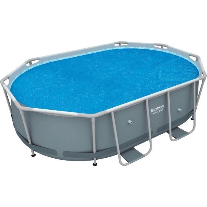 BESTWAY Bache solaire 404 x 230 cm pour piscine hors sol ovale Power Steel 424 x 250 x 100 cm
