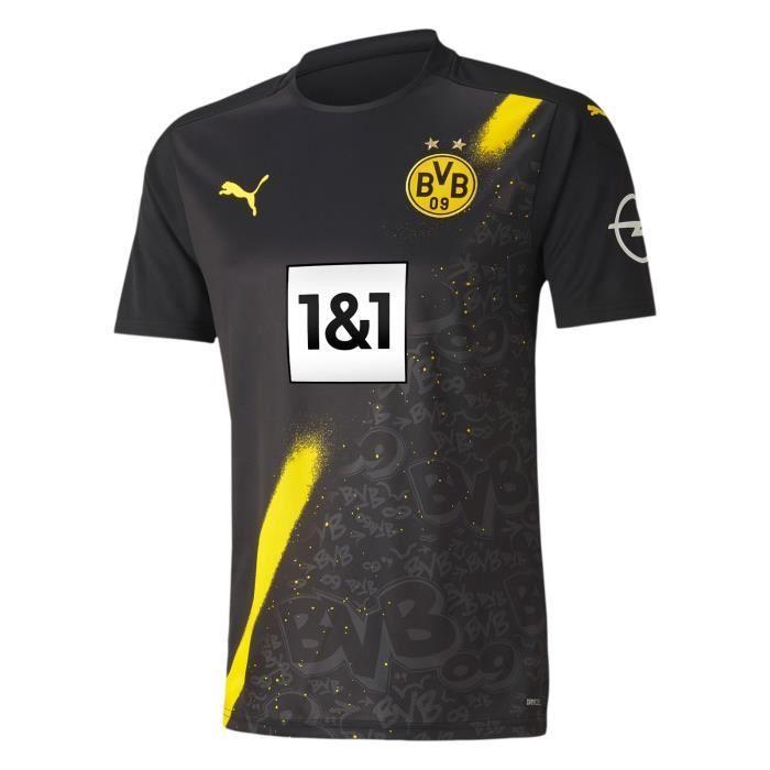 Maillot Borussia Dortmund - 2020-2021 BVB Maillot de Football Away Jersey - Noir