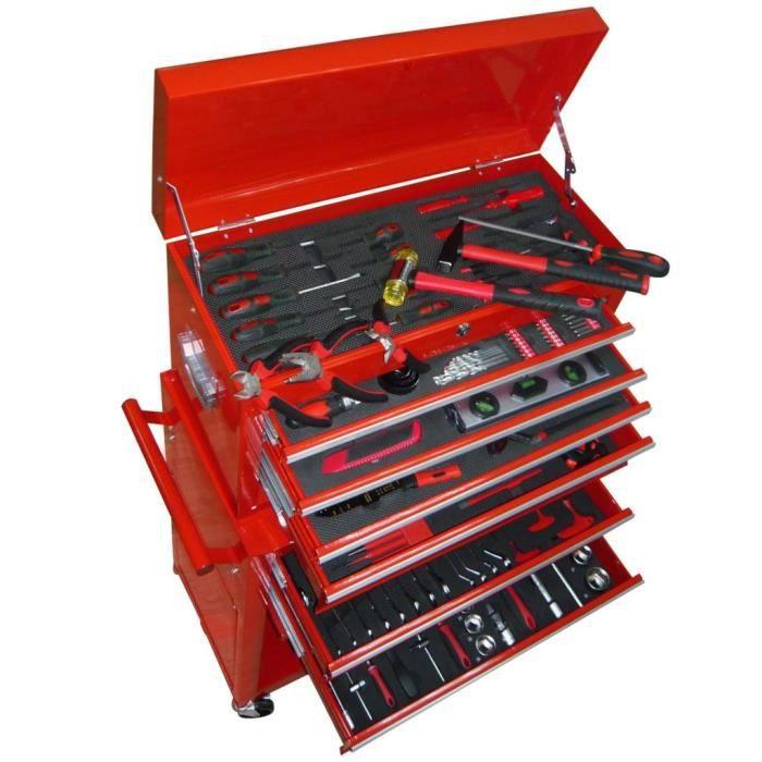 Chariot à outils Servante d'Atelier à Outils avec outils 7 couches