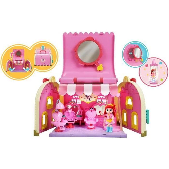 RAINBOW RUBY Vanity Salon de Beauté, accessoires, meubles et figurine Ruby - 89056 - 3 ans et +