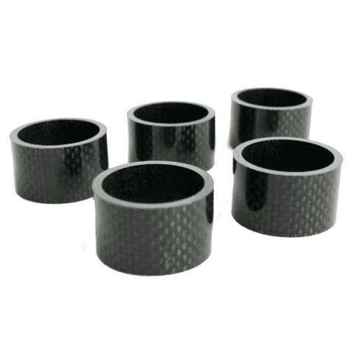 TOM entretoises 1-1/8 pouce 20 mm noir de carbone 5 pièces