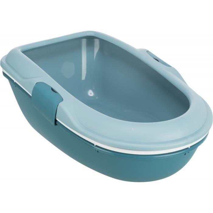 Bac a litière Berto 39 x 22 x 59 cm bleu clair pétrole. pour chat.-Trixie 40,000000 Bleu