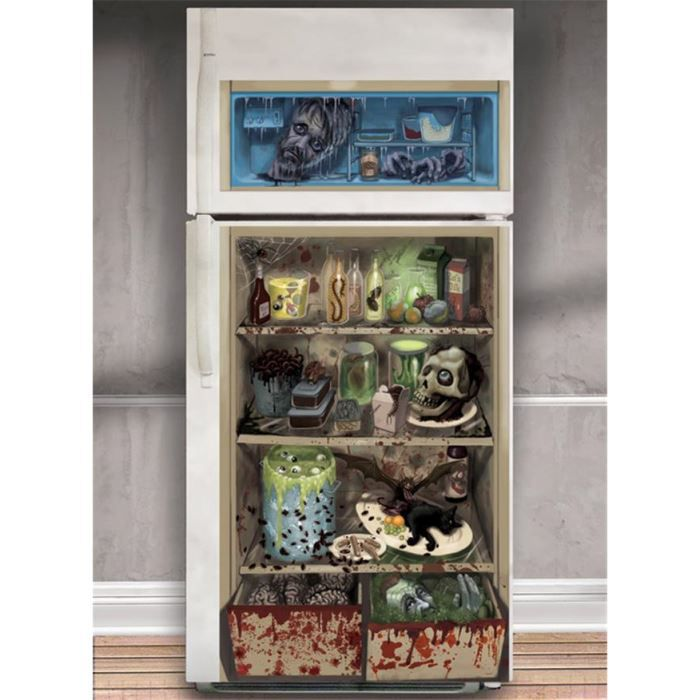 d coration de porte halloween pour frigo achat vente d co de f te murale cdiscount. Black Bedroom Furniture Sets. Home Design Ideas