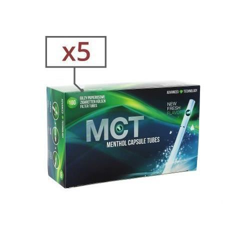 TUBE À CIGARETTE boite de 100 tubes menthol mct avec filtre x 5