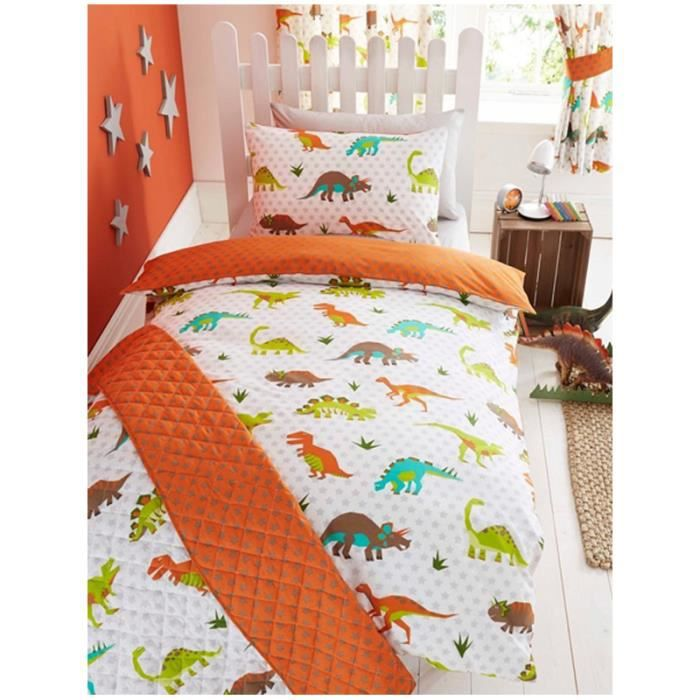 housse de couette dinosaure 2 personnes achat vente. Black Bedroom Furniture Sets. Home Design Ideas