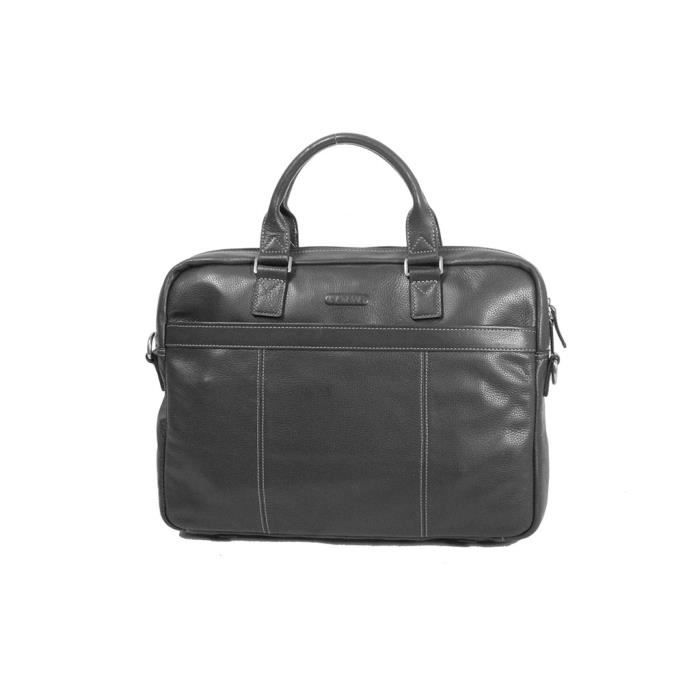 Noir porte ordinateur katana cuir grain k 69357 noir for Porte ordinateur