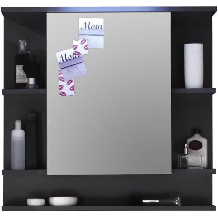 armoire miroir murale tetis graphit achat vente armoire de toilette armoire miroir murale. Black Bedroom Furniture Sets. Home Design Ideas