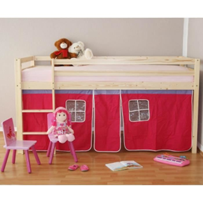 lit enfant superpos en pin massif naturel avec achat vente lits superpos s cdiscount. Black Bedroom Furniture Sets. Home Design Ideas