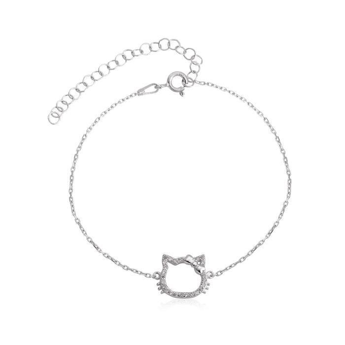 bracelet femme motif chat