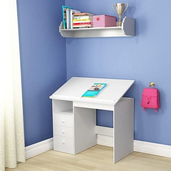 bureau enfant blanc achat vente bureau enfant blanc pas cher cdiscount. Black Bedroom Furniture Sets. Home Design Ideas